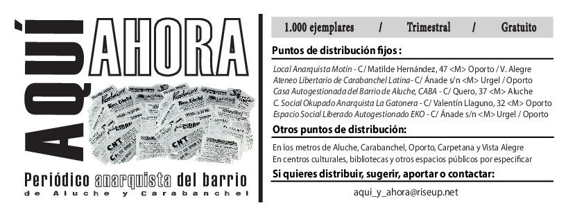 """Periódico Anarquista """"Aquí y Ahora"""""""